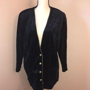 Navy Blue With Gild buttons Cardigan